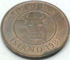 Moneda 1981. 10 Aurar. Islandia. KM 25. MBC - Islande