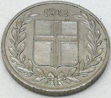 Moneda 1963. 25 Aurar. Islandia. KM 11. MBC - Islande