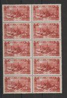 Sarre 1927 Timbre 118 Acieries En Bloc De 10 ** MNH - 1920-35 Société Des Nations