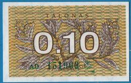LITHUANIA  0,10 Talonas 1991 # AD 151902  P# 29b - Lithuania