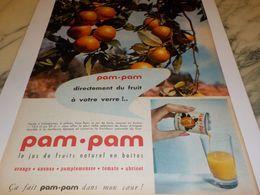 ANCIENNE PUBLICITE JUS D ORANGE  EN BOITE PAM PAM 1958 - Affiches