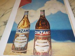 ANCIENNE PUBLICITE APERITIF   CINZANO 1958 - Alcools