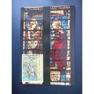 Tableau, Vitrail De Metz Par Chagall - Oblit 6/7/02 - Cartes-Maximum