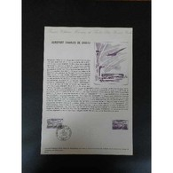 Document Officiel La Poste - Aéroport Charles De Gaulle - Documents De La Poste