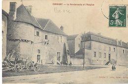 58 - Nièvre - CORBIGNY - La Gendarmerie Et L'Hospice - Corbigny