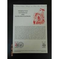 Document Officiel La Poste - Fédération Nationale Des Sapeurs-pompiers - Documents De La Poste