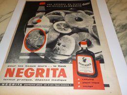 ANCIENNE PUBLICITE SALADE DE FRUITS  RHUM NEGRITA 1958 - Alcools