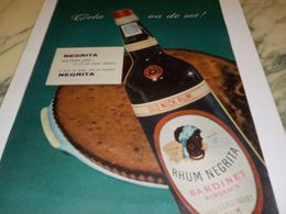 ANCIENNE PUBLICITE CELA VA DE SOI  RHUM NEGRITA 1958 - Alcools