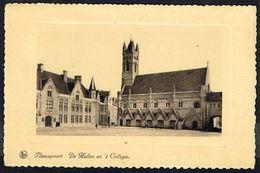 NIEUWPOORT / NIEUPORT - De Hallen En't Collegie - Les Halles Et La Collégiale - Circulé - Circulated - Gelaufen - 1938 - Nieuwpoort