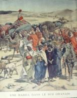ALGERIE-ORAN-RAZZIA DES SPAHIS-1900-36x26cm-3428 - Prints & Engravings