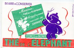 Buvard THE DE L'ELEPHANT  (ill Dupuy) (M0256) - Löschblätter, Heftumschläge