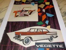 ANCIENNE   PUBLICITE VOITURE  CHAMBORD DE SIMCA 1958 - Voitures