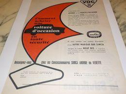 ANCIENNE PUBLICITE VOG CONCESSIONNAIRES VOITURE   SIMCA 1956 - Voitures