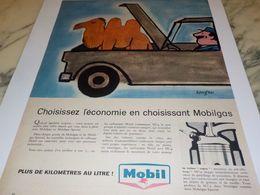 ANCIENNE PUBLICITE ECONOMIE CHOISIR MOBIL 1958 - Transporto
