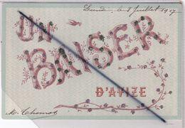 Un Baiser D'Avize (51)carte Avec Ajouts Brillants - Autres Communes