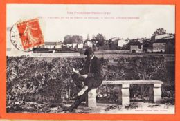 X66354 PRADES (66) Vu De La Route De CATTLAR Ecole Primaire 1918 à Mimie BOUTET Mercerie Port-Vendres LABOUCHE 576 - Prades
