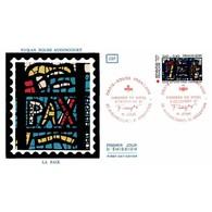CEF Soie - Croix-Rouge 1981 (2176) - Vitraux De Fernand Léger - 5/12/1981 Audincourt/Argentan - FDC
