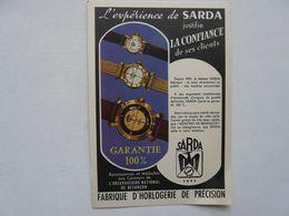 VIEUX PAPIERS - PUBLICITE :SARDA BESANCON - Publicités