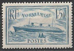 Timbre France Paquebot Normandie Bateau Boat  N° Yvert 300  De 1935 Neuf ** - France