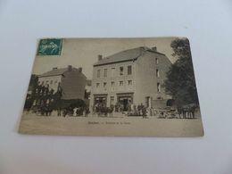 308 - CPA , Saulnes, Avenue De La Gare , Café De La Gare - France