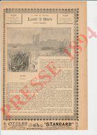 2 Scans 1894 Le Bac Antony Valabrègue ( à Louis Boulé Romancier Berrichon) Passeur Passage Animaux Embarcadère 229CH22 - Vieux Papiers