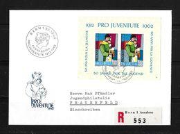 1962 HEIMAT BERN → FDC 50 Jahre Pro Juventute Marken   ►SBK-Block J199◄ - Pro Juventute