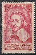 Timbre France Richelieu  N° Yvert 305  De 1935 Neuf ** Cote 90 € - France