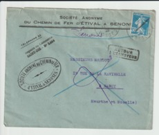 SENONES  - SOCIETE ANONYME DU CHEMIN DE FER D'ETIVAL A SENONES Avec Le CACHET De La SOCIETE - Mars 1926 - Senones
