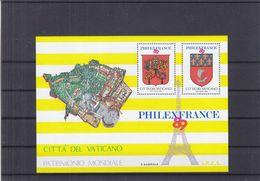 Vatican - Vignette - Bloc émis Pour L'exposition Philexfrance 1989 ** - Armoiries - - Blocs & Feuillets