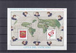 Vatican - Vignette - Bloc émis Pour L'exposition Granada 1992 ** - Armoiries - - Blocs & Feuillets