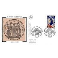 FDC Soie - Bicentenaire De La Banque De France - 15/1/2000 Paris - 2000-2009
