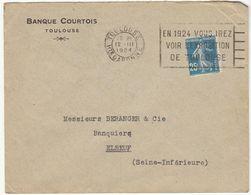 2 ESC OMEC Toulouse 1924 (2 Scans) - Marcophilie (Lettres)