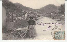 Menton ( Alpes Maritimes) Métiers, Limoneuse, Marchande De Citrons - Menton
