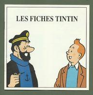PETIT CARNET LES FICHES TINTIN EDITION ATLAS HERGE 15CM X 15CM - Hergé