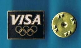 PIN'S //   ** CARTES BANCAIRE VISA BLACK / JEUX OLYMPIQUES ALBERTVILLE '92 ** - Olympic Games