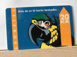 SCHEDE TELEFONICHE, DANIMARCA, PAPPAGALLO Scad 31/12/95 - 01/94 N° 292736 - Denmark