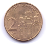 SERBIA 2018: 2 Dinara, KM 55 - Serbie