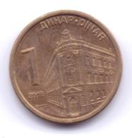 SERBIA 2018: 1 Dinar, KM 54 - Serbien