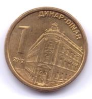 SERBIA 2012: 1 Dinar, Magnetic, KM 54 - Serbie