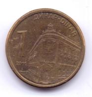 SERBIA 2011: 1 Dinar, Magnetic, KM 54 - Serbie