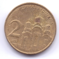 SERBIA 2010: 2 Dinara, Non-magnetic, KM 46 - Serbia