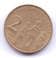 SERBIA 2010: 2 Dinara, Non-magnetic, KM 46 - Serbie