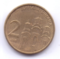 SERBIA 2009: 2 Dinara, Non-magnetic, KM 46 - Serbia
