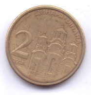 SERBIA 2008: 2 Dinara, Non-magnetic, KM 46 - Serbia