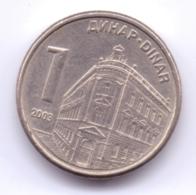 SERBIA 2003: 1 Dinar, KM 34 - Serbia