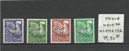 N° 119 à 122  NEUF**  1er Choix - 1953-1960