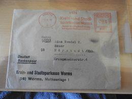 Alter Brief  Drucksache Kreis Und Sparkasse Worms 1946 - Banco & Caja De Ahorros
