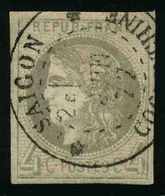 FRANCE - YT 41B - EMISSION DE BORDEAUX CERES - TIMBRE OBLITERE - 1870 Emissione Di Bordeaux