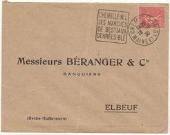 ESC Daguin Chemillé 1930 - Marcophilie (Lettres)