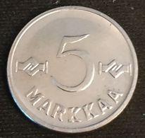 FINLANDE - FINLAND - LOT DE 2 PIECES - 1 Et 5 MARKKA 1955 - KM 36a Et KM 37a - Finnland